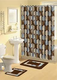 Baby Blue And Brown Bathroom Set by Appealing Bathroom Shower Curtain And Rug Sets Blue Brown Bath Set