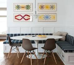 Banquette Dining Table Set Likeable Navy Blue Lined Seating Pattern Ideas For Furniture Unit