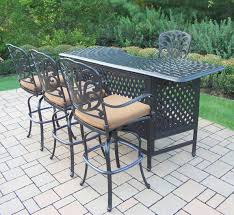 Patio Furniture Cushions Sears by Amazon Com Oakland Living Hampton 5 Piece Party Bar Set With
