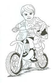 Dirt Bike Rider Coloring Page Tina We Cn Print This And
