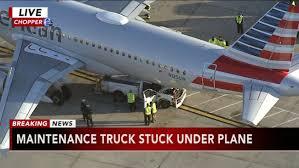 100 Truck Crashes Video Maintenance Truck Crashes Into Raleighbound Plane At Philadelphia