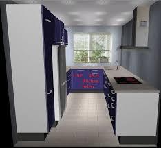 u küche mit side by side kühlschrank für unser reihenhaus