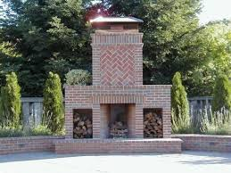 Standout Outdoor Brick Fireplaces Delectable Decorative Detailing