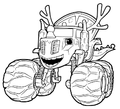 100 Monster Truck Coloring Book Smasher Zeg On Blaze Pages Coloring Pages
