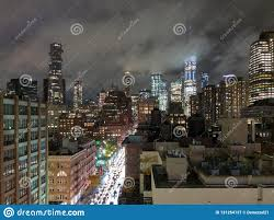 100 Tribeca Roof New York Downtown Skyline Stock Image Image Of Roof 131254137