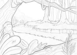 Epic Scenery Coloring Pages 44 On Gallery Ideas With