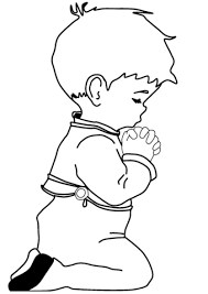 Click To See Printable Version Of Praying Little Boy Coloring Page