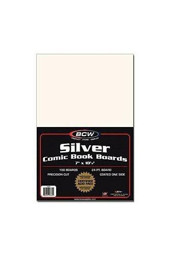 BCW Silver Comic Book Boards - x100