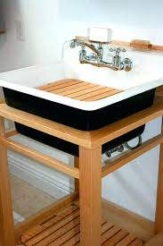 Kohler Utility Sink Wood Stand by Kohler Laundry Sink Stand Freestanding Meetly Co Complete Your