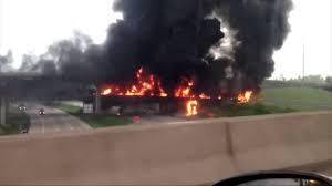 100 Tanker Truck Explosion Truck Crash Fire Closes I81 Near Harrisburg Raw Video