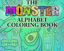 The Monster Alphabet Coloring Book Letters ArtKids BookKid