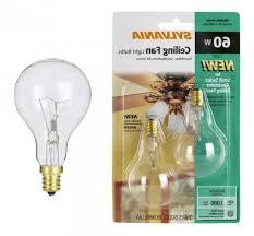 sylvania 2 pack 60 watt a15 ceiling fan light bulbs ceiling fan