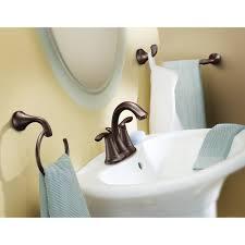 Moen Oil Rubbed Bronze Bathroom Accessories by Moen 6410orb Eva Oil Rubbed Bronze Two Handle Centerset Bathroom