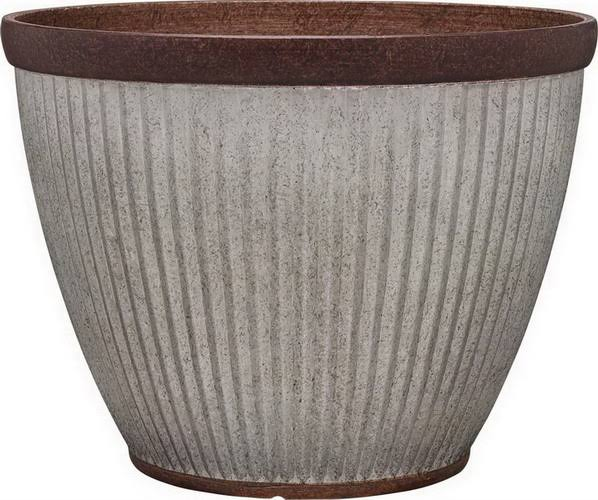 Southern Patio-Westlake Round Planter- Galvanized 10 inch (Case of 12 )