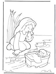 Full Image For Baby Moses Basket Coloring Page Bible Pages Free Printable