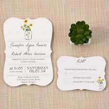 Bracket Unique Mason Jars Inspired Rustic Sunflower Wedding Invites EWIb355