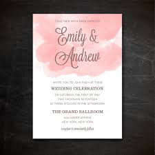 Printable Watercolor Wedding Invitation Template