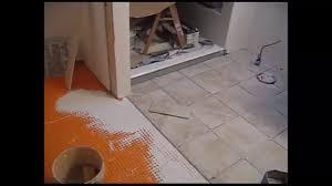 heated ceramic tile floor installation step 8 heated ceramic tile
