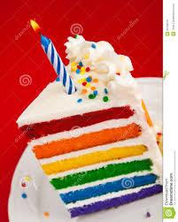 Rainbow Birthday Cake Slice