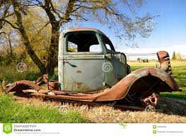 Frame Of An Old Pickup Stock Image. Image Of Junkyard - 60693963