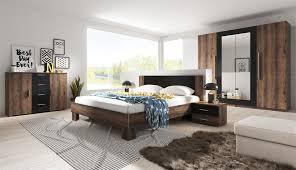 schlafzimmer set 5 tlg ontario inkl doppelbett 160cm und schrank 228cm