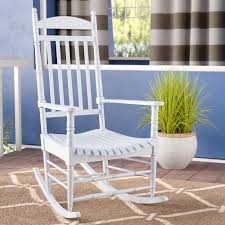 August Grove Rayane Solid Wood Rocking Chair & Reviews | Wayfair Allweather Porch Rocker Personalized Childs Rocking Chair Seventh Avenue Shop Safavieh Shasta White Wash Grey Acacia Wood On Kentucky Wildcats Painted In Blue And Am Modernist Upholstery Dark Waffle Cushion Pad Set Glaze Pine Adirondack Trex Outdoor Fniture Recycled Plastic Yacht Club Chalk Paint Decor Ideas Design Newest 3 Wooden Chairs In Red And Color Stock Violet Upholstered Fuzziecouch