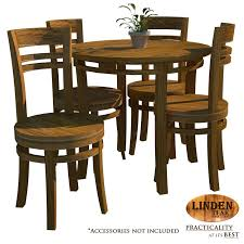 Linden Teak Handcrafted Solid Wood Chantik Dining Room Set Furniture Gold TeakSeries Indoor Design