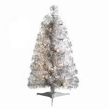 St Nicholas Square 2ft Tinsel Pre Lit Christmas Trees Only 762 Shipped
