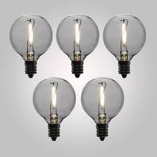 led filament light bulbs g40 globe vintage energy saving e12 base