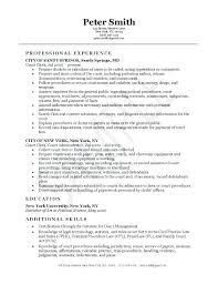 Clerical Skills Resume Sample Clerk Cover Letter Throughout Payroll Computer