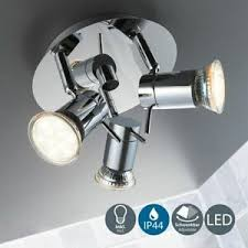 details zu bad deckenle led bad leuchte 3er außen strahler ip44 badezimmer spot strahler