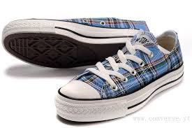 converse all plaid blue shoes black yellow converse all plaid low top