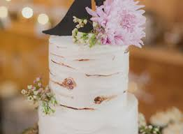 Rustic Wedding Cake Tree Design Baby S Breath Fishing Rod Topper PSJ