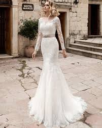 Vestido De Noiva Bridal Gown Rustic Long Sleeve Mermaid Wedding Dress Women Civil Sexy Lace Backless Dresses 2018 Shop For Show Me