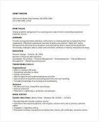 Entry Level Banking Job Resume