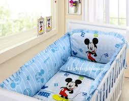 blue mickey mouse crib bedding cotton bedding