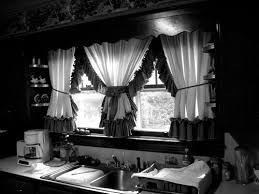 Nice Idea Black And White Kitchen Curtains Curtain Marvellous Ideas
