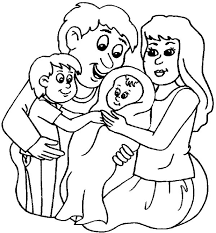 New Family Member Colouring Page