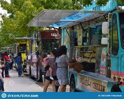 100 Dallas Food Trucks Klyde Warren Park Editorial Image Image Of