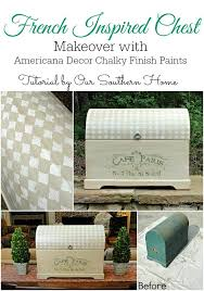 Americana Decor Chalky Finish Paint Colors by French Inspired Chest Makeover Our Southern Home