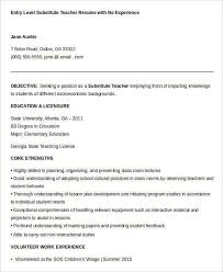Substitute Teacher Resume Examples From Sample 32 Free Word Pdf Documents Download
