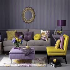 grey purple and yellow living room lime green decor