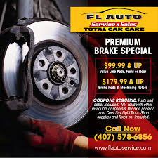 COUPONS And Offers -Auto Repair In Orlando-FL Auto Service & Sales