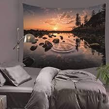 twilight landscape series wandteppiche hintergrund tuch