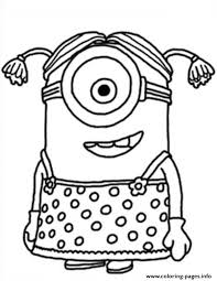 Little Girl The Minion Coloring Pages Print Download 630 Prints