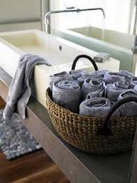 Bathroom Towel Storage Basket Rustic Holders