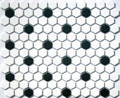 hex rosette pattern in ecru white black lyric