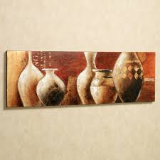 Tuscan Style Wall Decor by Tuscan Earthenware Handpainted Canvas Wall Art