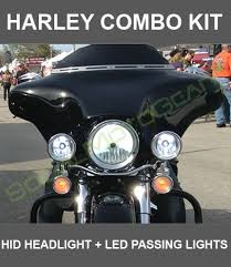 harley combo bi xenon hid kit led passing lights