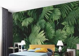 benutzerdefinierte 3d wandbilder wallpaper für wohnzimmer grün tropische pflanze blätter 3d tapeten für wand vliestapete